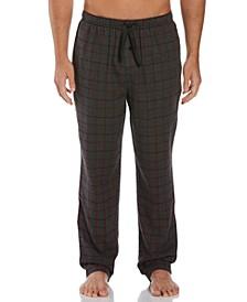 Men's Houndstooth Plaid Flannel Pajama Pants