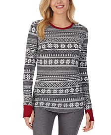 Stretch Thermal Long-Sleeve Crewneck Top