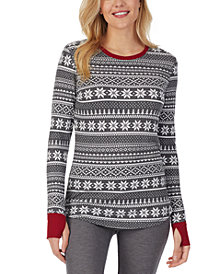 Cuddl Duds Stretch Thermal Long-Sleeve Crewneck Top