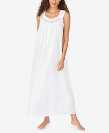 Cotton Striped Ballet Nightgown