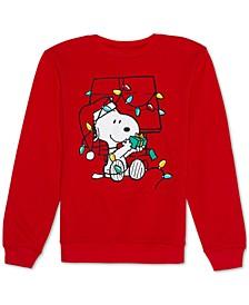 Juniors' Snoopy Holiday Lights Graphic Sweatshirt