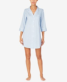 로렌 랄프로렌 잠옷 새틴 슬립 셔츠 Lauren Ralph Lauren Classic Sateen Sleep Shirt Nightgown