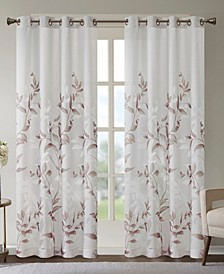 "Cecily Floral Print 50"" x 84"" Curtain Panel"