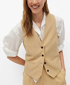 Buttons Suit Vest