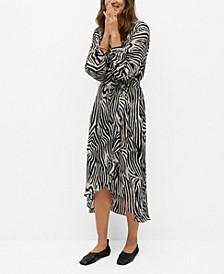 Zebra Printed Dress
