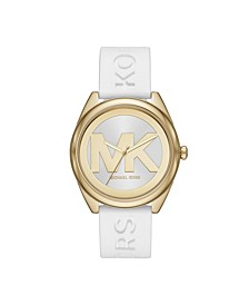 Women's Janelle White Silicone Strap Watch 42mm
