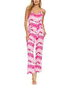 Women's Cute Tie Dye Tank Top and Pajama Pants Set