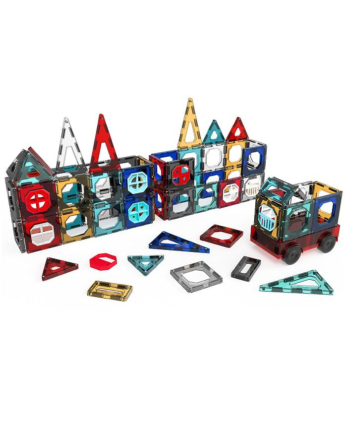 32-Pieces FAO Schwarz Toy Magnetic Tile and Truck Set