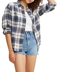 Cotton Plaid Flannel Shirt