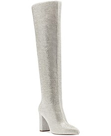 Phebe Over the Knee Rhinestone Boots, Created for Macys