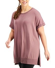 Plus Size Solid Distressed Top, Created for Macy's