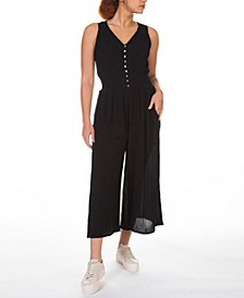 Smocked-Waist Culotte Jumpsuit, in Regular & Petite