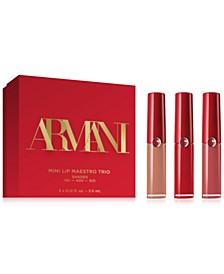 Giorgio Armani 3-Pc. Lip Maestro Mini Liquid Lipstick Gift Set