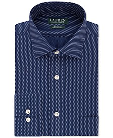 Men's Classic/Regular-Fit Non-Iron Ultraflex Performance Stretch Dot Dress Shirt