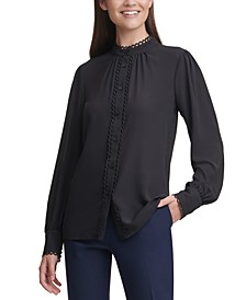 Scalloped-Trim Blouse