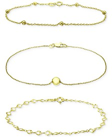 3-Pc. Set Gold Link Chain Bracelets, Created for Macy's