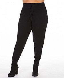 Black Tape Plus Size Drawstring Knitted Jogger Pants