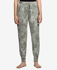 Juniors' Camo Cozy Knit Jogger Pants