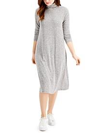 Striped Midi Turtleneck Dress, Created for Macy's