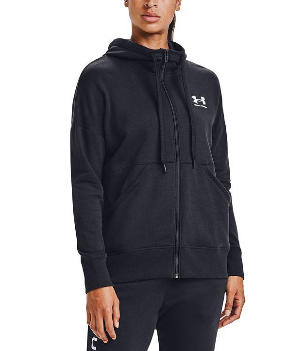 Under Armour Women's Rival Fleece Zip-Front Hooded Sweatshirt