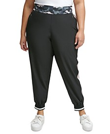 Plus Size Printed-Waist Jogger Pants