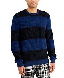 INC Men's Fuzzy Striped Sweater, Created for Macy's