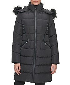 Women's Faux Fur Hooded Puffer Coat