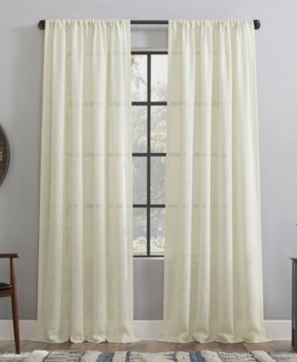 "Basket weave Dust Resistant Semi-Sheer Curtain Panel, 50"" x 84"""