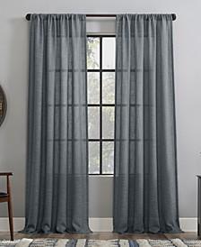 "Basket weave Dust Resistant Semi-Sheer Curtain Panel, 50"" x 63"""