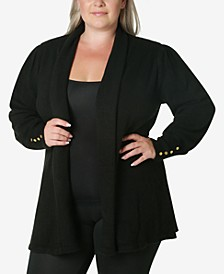 Women's Plus Size Cardigan Sweater