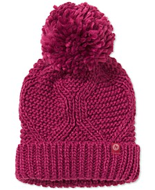Monica Cable-Knit Pom Pom Hat