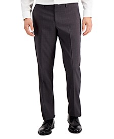 Perry Eliis Portfolio Men's Modern Fit Plaid Performance Pants