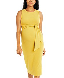 Maternity Tie-Front Dress