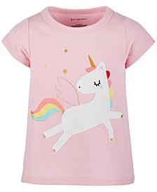 Toddler Girls Rainbow Unicorn Cotton T-Shirt, Created for Macy's