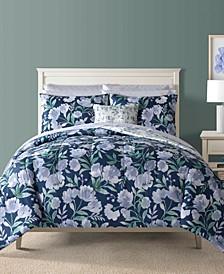 Bella Blue 12-Pc. Reversible King Comforter Set