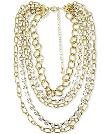 "INC Gold-Tone Chain 18"" Layered Necklace, Created for Macy's"