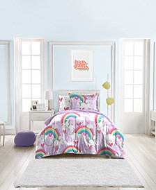 Unicorn Rainbow 7-Piece Full Bedding Set