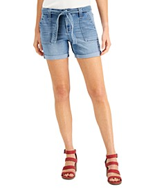 Petite Belted Utility Shorts, Created for Macy's