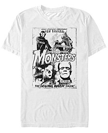 Men's Universal Monsters Vintage-Like Horror Short Sleeve T-shirt
