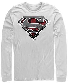 Men's Superman Concrete Logo Long Sleeve Crew Tee