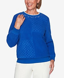 Women's Plus Size Classics Solid Anti-Pill Top
