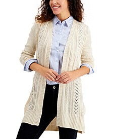 Petite Turbo Duster Cardigan Sweater, Created for Macy's