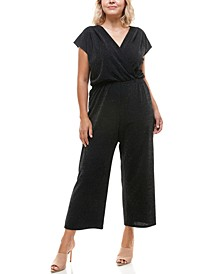Trendy Plus Size Shine Wide-Leg Jumpsuit