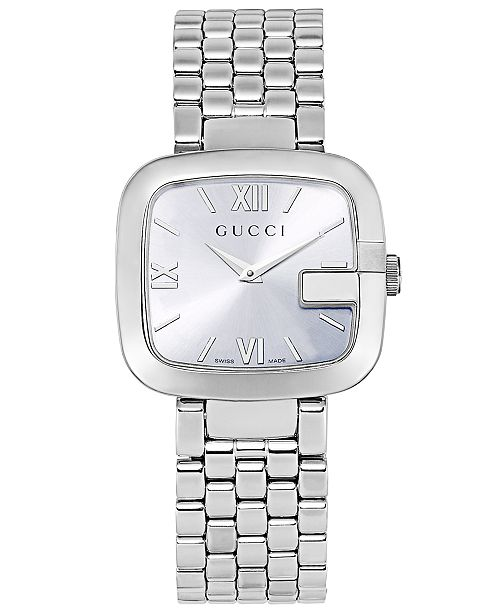 8c3b098231e ... Gucci Women s Swiss G-Gucci Stainless Steel Bracelet Watch 32mm  YA125411 ...