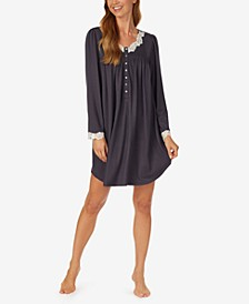 Scalloped-Lace-Trim Nightgown