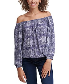 Printed Off-The-Shoulder Top