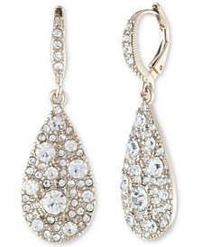 Scattered Crystal Teardrop Earrings