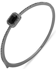 Pavé & Square Crystal Bangle Bracelet