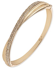 Gold-Tone Pavé Twist Bangle Bracelet