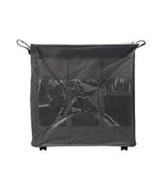 3-Section Rolling Hamper, Laundry Sorter, Fabric Laundry Basket On Wheels